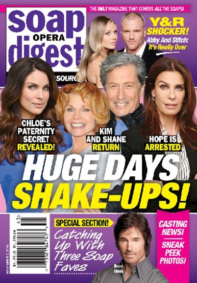 Soap Opera Digest Cover - 11/7/2016