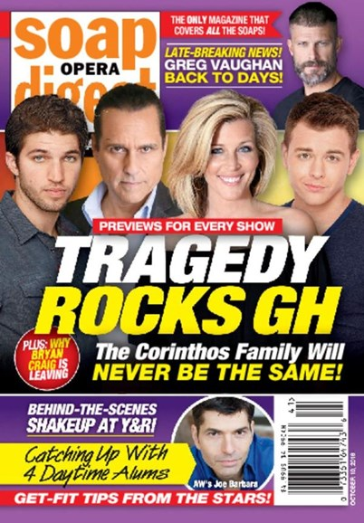 Soap Opera Digest Cover - 10/10/2016