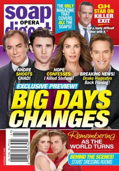Soap Opera Digest Cover - 10/17/2016