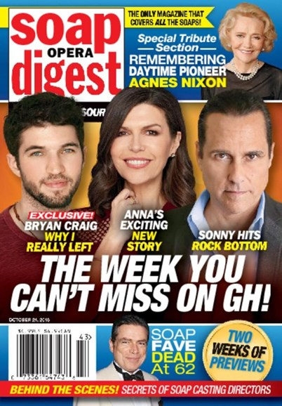 Soap Opera Digest Cover - 10/24/2016