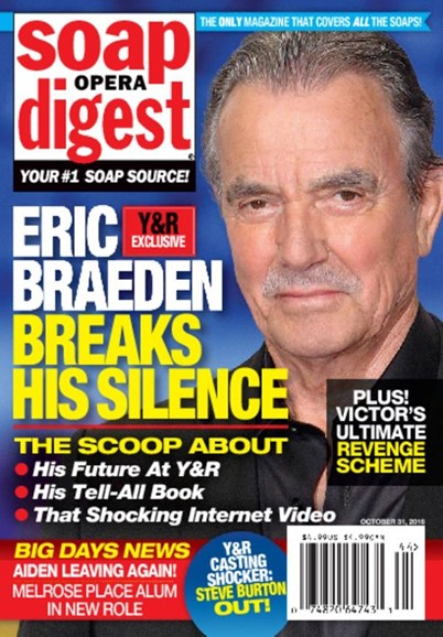 Soap Opera Digest Cover - 10/31/2016