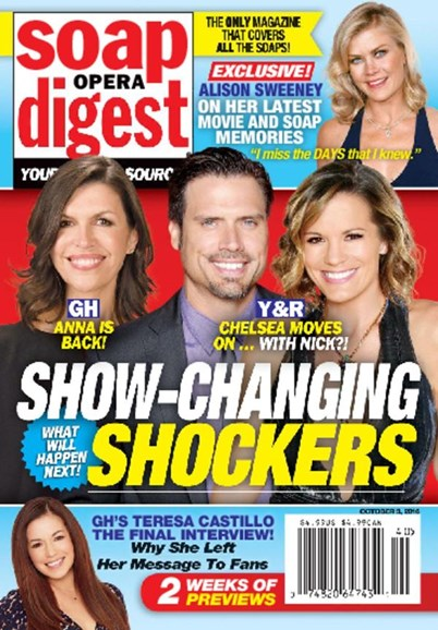 Soap Opera Digest Cover - 10/3/2016