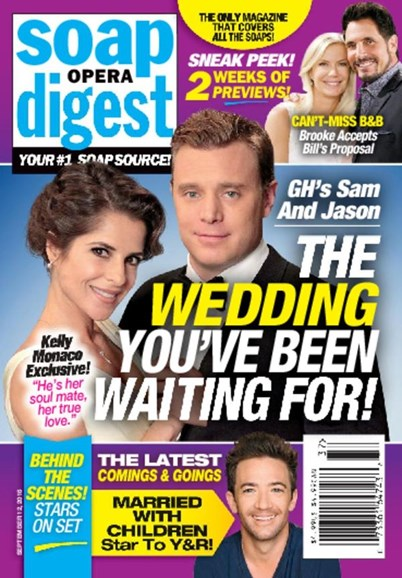 Soap Opera Digest Cover - 9/12/2016