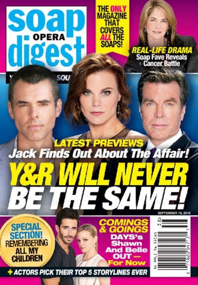 Soap Opera Digest Cover - 9/19/2016