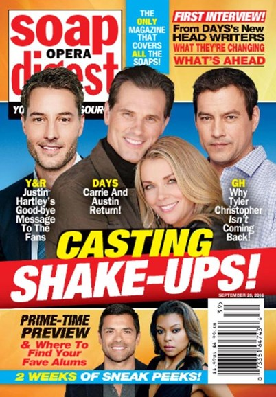 Soap Opera Digest Cover - 9/26/2016