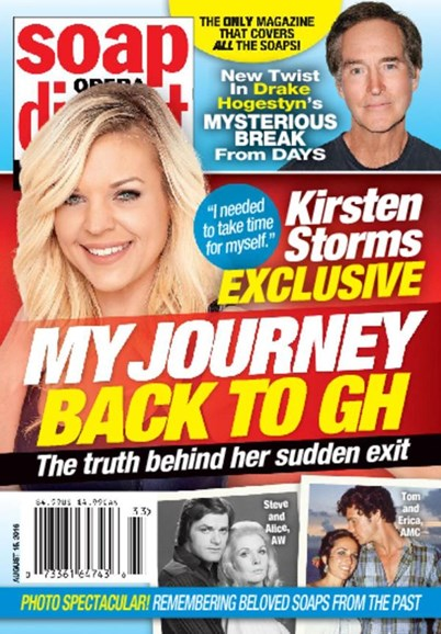 Soap Opera Digest Cover - 8/15/2016
