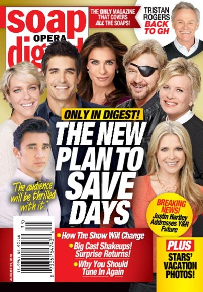 Soap Opera Digest Cover - 8/29/2016
