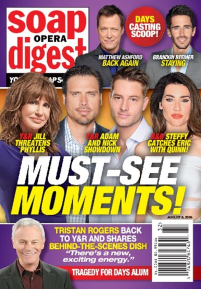 Soap Opera Digest Cover - 8/8/2016