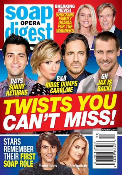 Soap Opera Digest Cover - 8/1/2016
