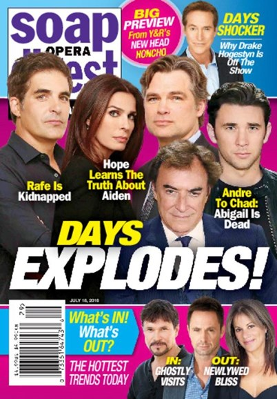 Soap Opera Digest Cover - 7/18/2016