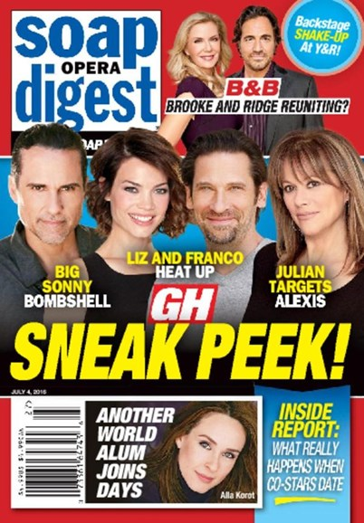Soap Opera Digest Cover - 7/4/2016