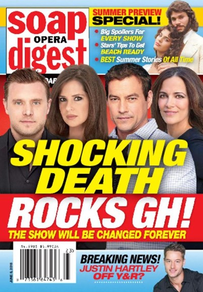 Soap Opera Digest Cover - 6/6/2016