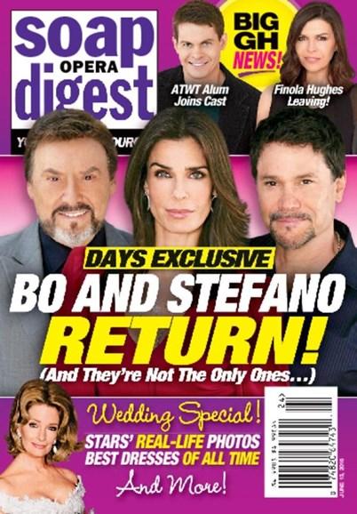 Soap Opera Digest Cover - 6/13/2016