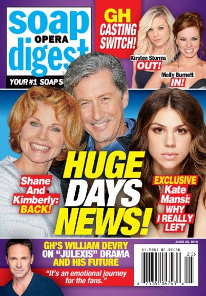 Soap Opera Digest Cover - 6/20/2016