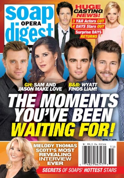 Soap Opera Digest Cover - 4/11/2016