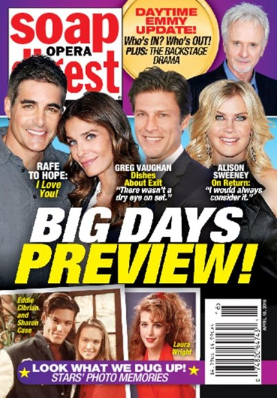 Soap Opera Digest Cover - 4/18/2016