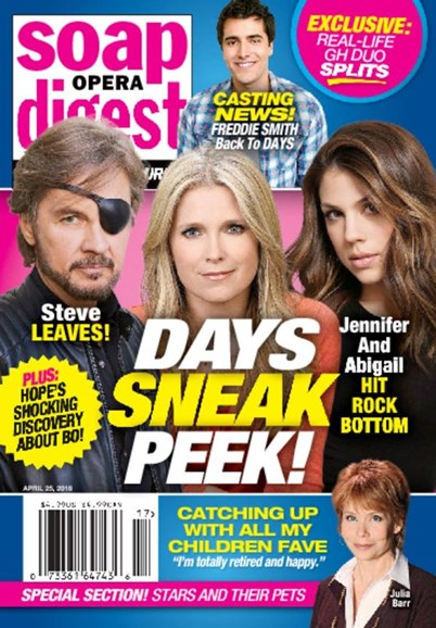 Soap Opera Digest Cover - 4/25/2016
