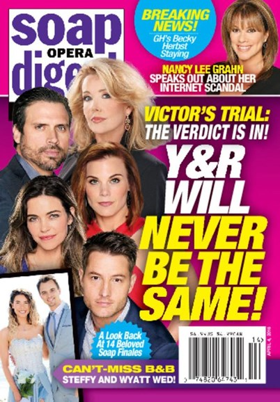 Soap Opera Digest Cover - 4/4/2016
