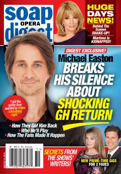 Soap Opera Digest Cover - 3/14/2016