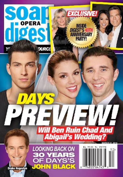 Soap Opera Digest Cover - 3/21/2016