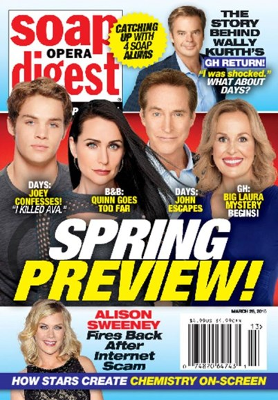 Soap Opera Digest Cover - 3/28/2016