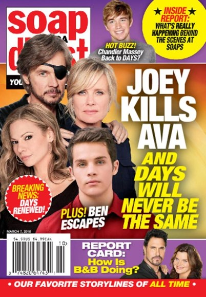 Soap Opera Digest Cover - 3/7/2016