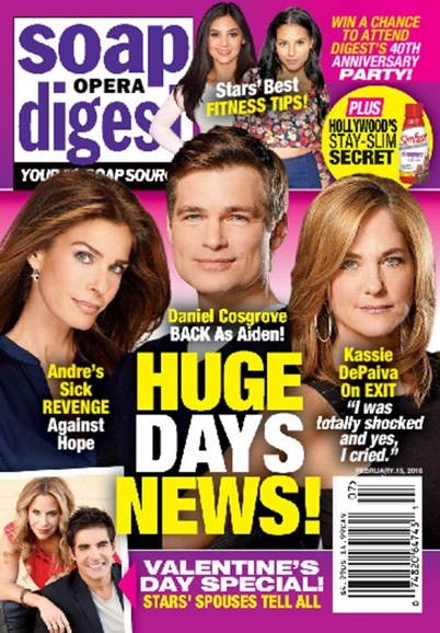Soap Opera Digest Cover - 2/15/2016