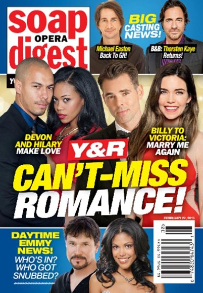 Soap Opera Digest Cover - 2/22/2016