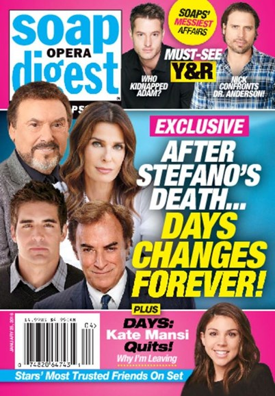 Soap Opera Digest Cover - 1/25/2016