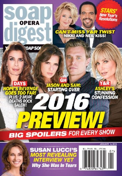 Soap Opera Digest Cover - 1/4/2016