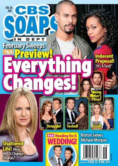 CBS Soaps In Depth Cover - 2/20/2017