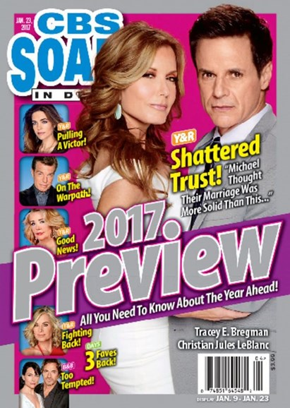 CBS Soaps In Depth Cover - 1/23/2017