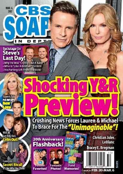 CBS Soaps In Depth Cover - 3/6/2017