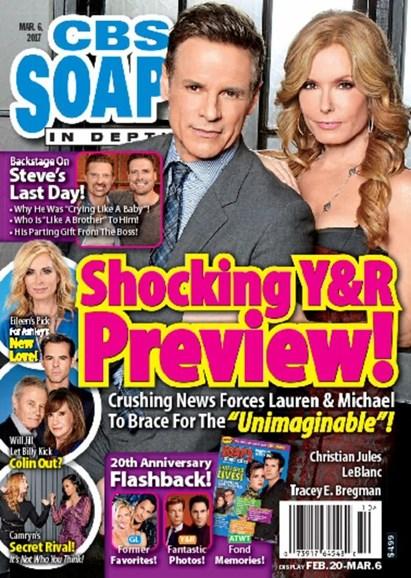 CBS Soaps In Depth Cover - 3/6/2017