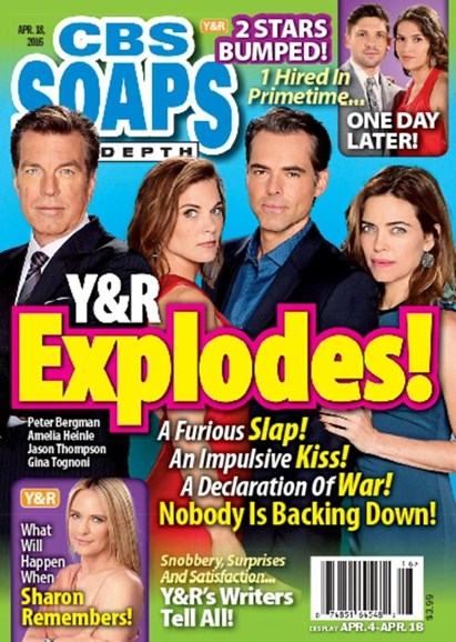 CBS Soaps In Depth Cover - 4/18/2016