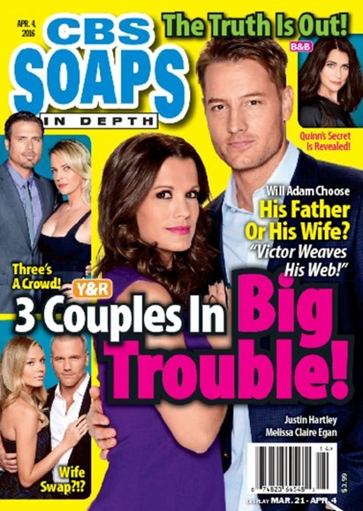 CBS Soaps In Depth Cover - 4/4/2016