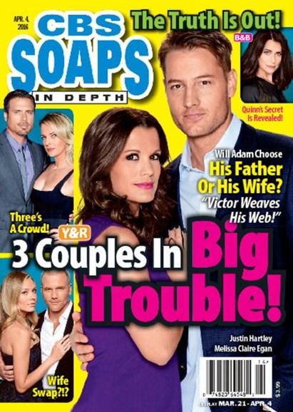 CBS Soaps In Depth Cover - 4/4/2016