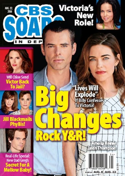 CBS Soaps In Depth Cover - 8/22/2016