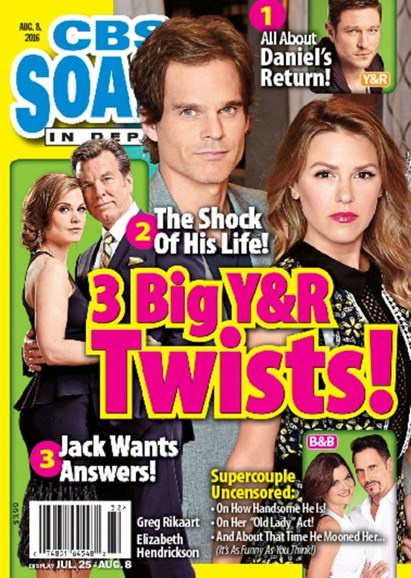 CBS Soaps In Depth Cover - 8/8/2016