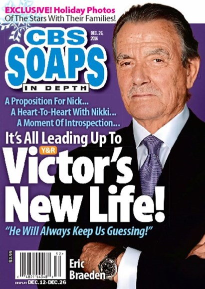 CBS Soaps In Depth Cover - 12/26/2016