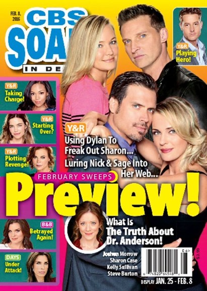 CBS Soaps In Depth Cover - 2/8/2016