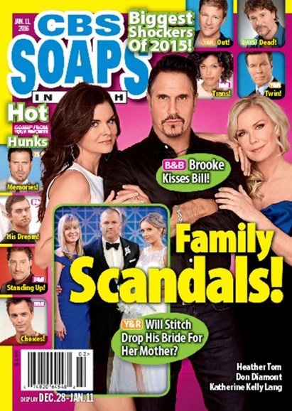 CBS Soaps In Depth Cover - 1/11/2016