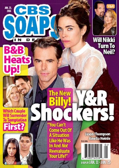 CBS Soaps In Depth Cover - 1/25/2016