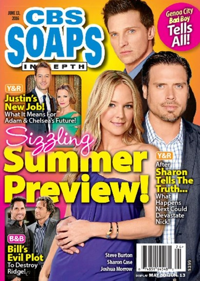 CBS Soaps In Depth Cover - 6/13/2016