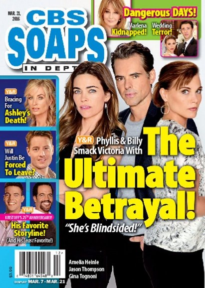 CBS Soaps In Depth Cover - 3/21/2016