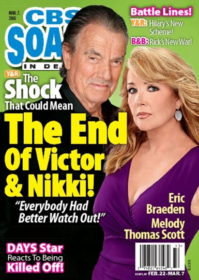 CBS Soaps In Depth Cover - 3/7/2016