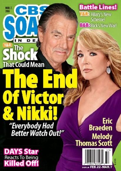 CBS Soaps In Depth Cover - 3/7/2016