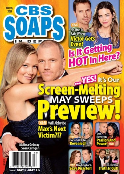 CBS Soaps In Depth Cover - 5/16/2016