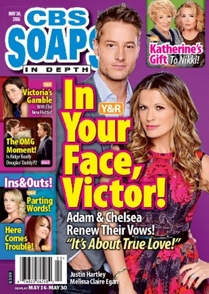 CBS Soaps In Depth Cover - 5/30/2016