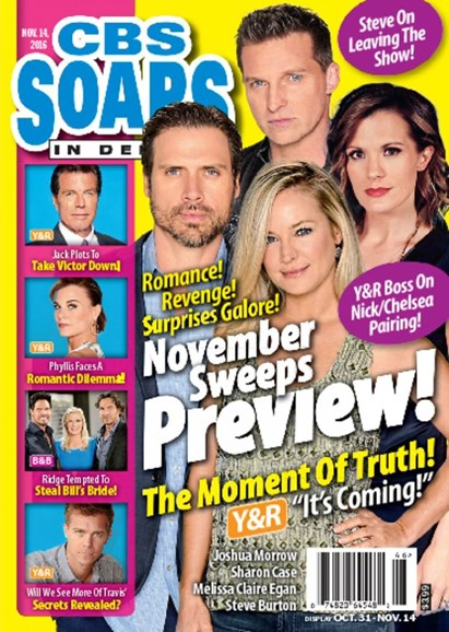 CBS Soaps In Depth Cover - 11/14/2016